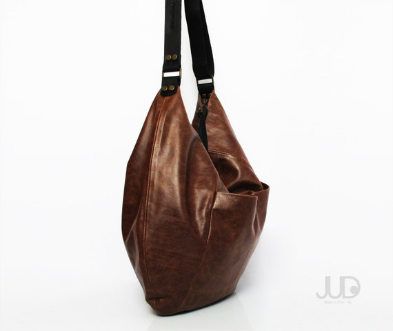 Brown leather bag soft leather purse SALE leather hobo bag