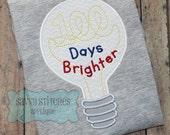 100 Days Brighter Machine Embroidery Applique Design