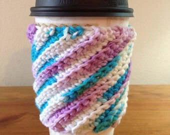 Crocheted Coffee Cup Cozy - Cup Sleeve