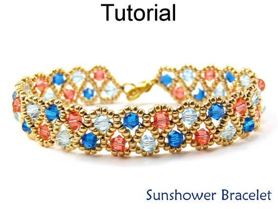Jewelry making beading pattern beaded crystal bracelets for Simple beaded jewelry patterns