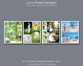 8 x 10 Photo Collage Templates - Set 1