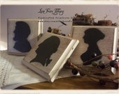 Set of 3 Wood Silhouette Plaques **Primitive** **Civil War**