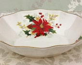 "Royal Albert "" Poinsettia"" Christmas Dish"