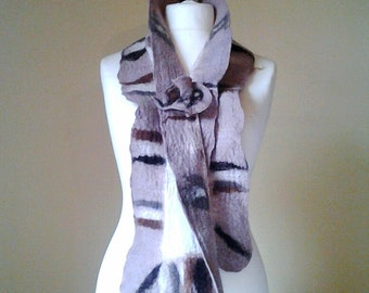 Nuno felted scarf - Wool felted scarf - Felted scarf -  Merino wool scarf - Winter scarf - Nuno scarf - Winter accessories - Scarves -