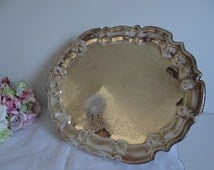 Leonard Silverplate Scalloped Edge Footed Tray - Elegant Serving or Home Decor Piece