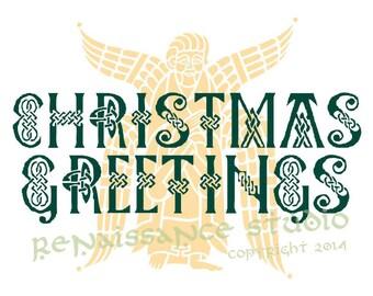 Celtic Design Christmas Card