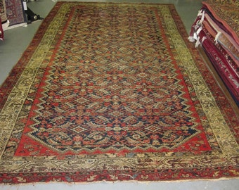 Antique Persian Rug - 1930s Antique Hand-Knotted Hamadan-Malayer Persian Rug (2657)