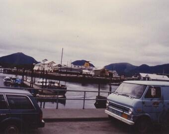 color film photograph, alaska, landscape, travel photo, photography, vintage cars