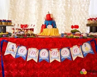 Snow White Inspired Banner