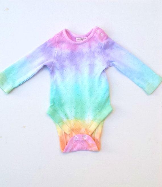 Rainbow Baby Onesie Thermal Baby Grow Sleepsuit for New Baby