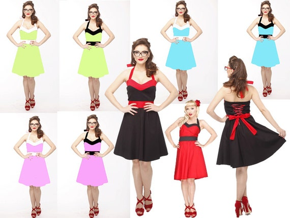 Pastel bridesmaid dress, Pin Up dress, Rockabilly dress, 50s dress, Bridesmaid dress, Prom dress