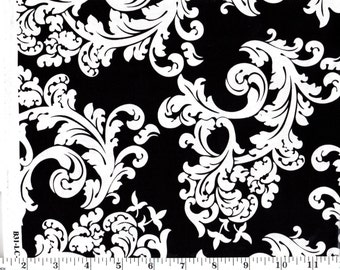 23 inches, Black and White Filigree Brother Sister Studio