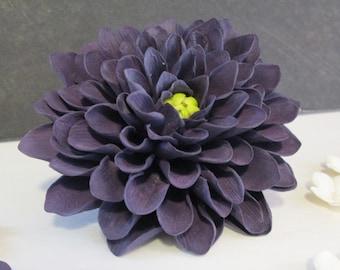 Dahlia cake topper sugar flowers gumpaste wedding bridal