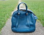 Bright Blue Vintage 60s American Tourister Travel Case