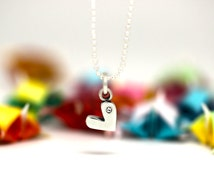 Little Heart charm, sterling silver, kid jewelry (Chain Sold Separately)