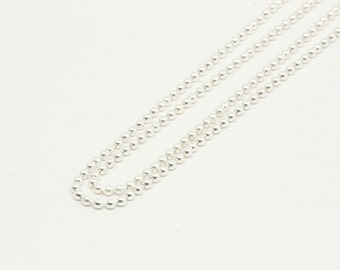 Sterling silver ball chain.