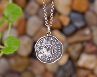 VIRGO Key Word Pendant of Astrology Zodiac Sign, Birthday gifts, Sterling Silver Chain Included.