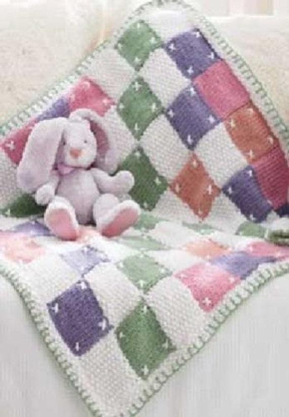 Baby Blanket Knitting Pattern With Chunky Yarn : baby knitting pattern for patch work blanket chunky yarn 28