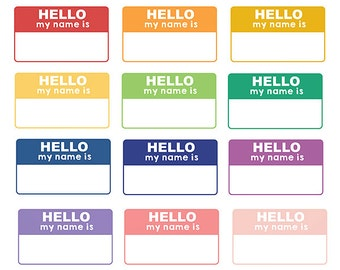 60% OFF SALE Digital Clipart Labels Hello My Name Is Teacher Clipart School Kids Clipart Labels