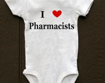 I heart pharmacists baby bodysuit