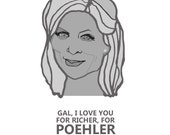 I Love You For Richer, For Poehler Postcard (4 pack)