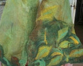 Felted Shawl, Woman Cape, Handmade Nunofelted scarf, Woman Gift