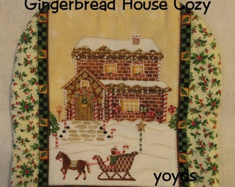 GINGERBREAD House, TEA COZY,  Appliance Cozy,  Holiday Decor, Country,  Home Décor,  Gift Item, Hostess Gift, Gifts for Women, Winter