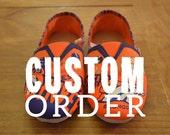 Custom Denver Broncos Hand-Painted Sneakers
