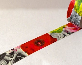 """SALE Washi Tape """"Floral Collage""""  10 Meters"""
