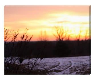 Sunrise in Wayne, Maine - Free Shipping!