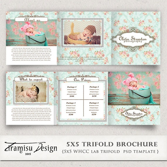 5x5 photography trifold brochure template client welcome for Welcome brochure template