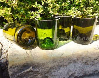 Stemless Wine Bottle Eco Glasses Set of 4