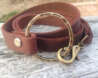 wrap bracelet leather