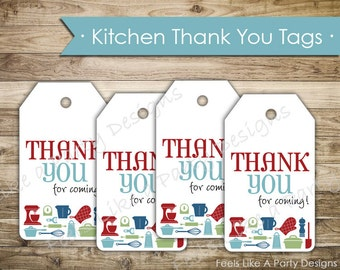 Kitchen Themed Thank You Tags - Instant Download