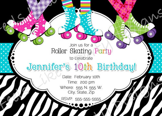 Roller Skate Party Invitations Free Printable was great invitation sample