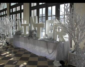 Styrofoam Name - Styrofoam Letters - Large Styrofoam Name - White Styrofoam Name - Free Standing Letters - White Letter Block - Letter Decor