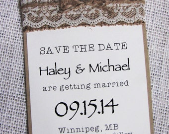 Rustic Save the Date Card, Save the Date, Rustic Wedding Save the Date Set of 50