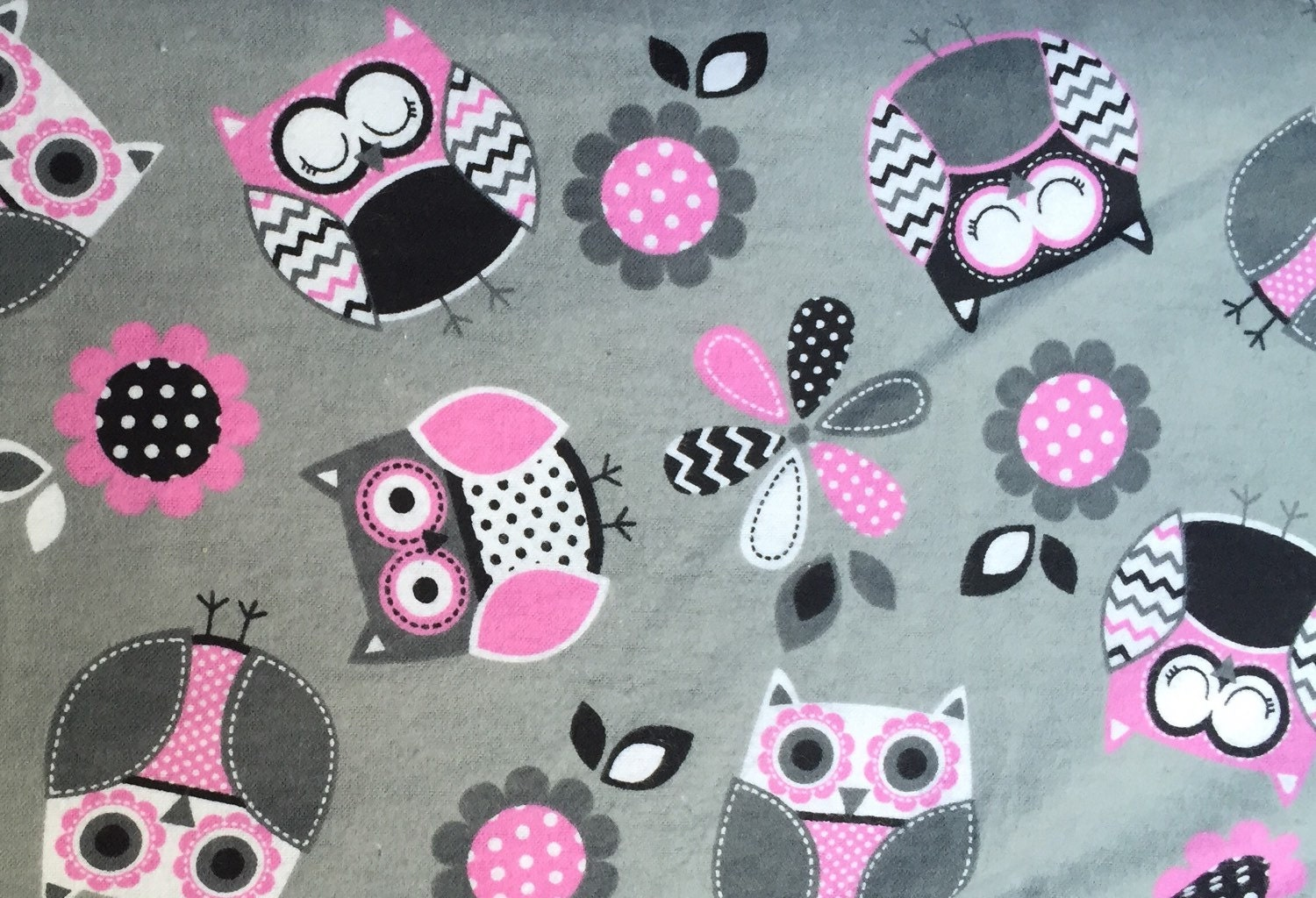 Custom listing for shannon flannel pretty pink and gray for Grey baby fabric