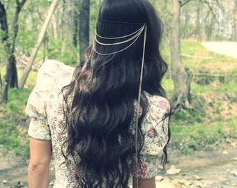 Vintage Hair Jewelry, Bohemian Head Chain, Hair Chain, Hair accessories