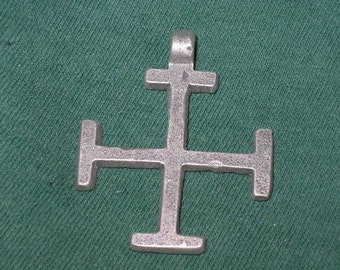 Coptic Cross, Necklace, Handmade In Lead Free, Nickel Free Pewter