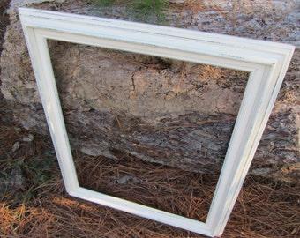 Beautiful Shabby Chic Frame, Vintage Frame, Shabby Chic Frame,  Frame, Gallery Frame, photo prop frame
