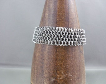 Stainless Steel Micro Dragonscale Chainmaille Bracelet