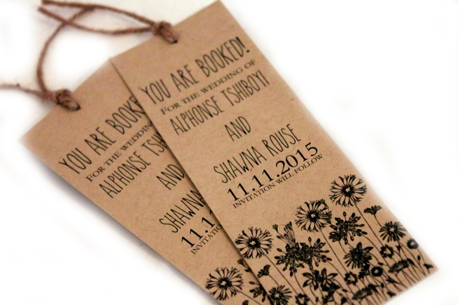 Kraft Wedding Invitations is nice invitation example