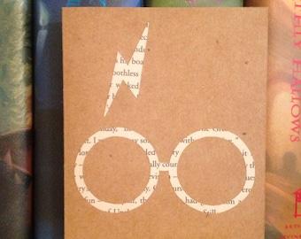 Harry Potter Lightning Bolt Scar and Glasses Card with Envelope