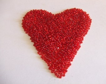 Tiny Shimmering Red Glass Seed Beads-2oz