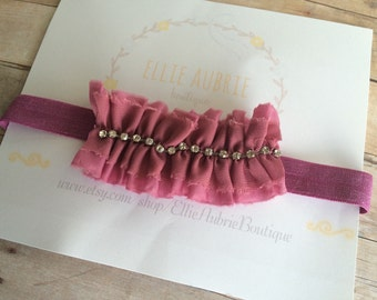 Baby headband, newborn headband, flower headband, pearl headband, child headband