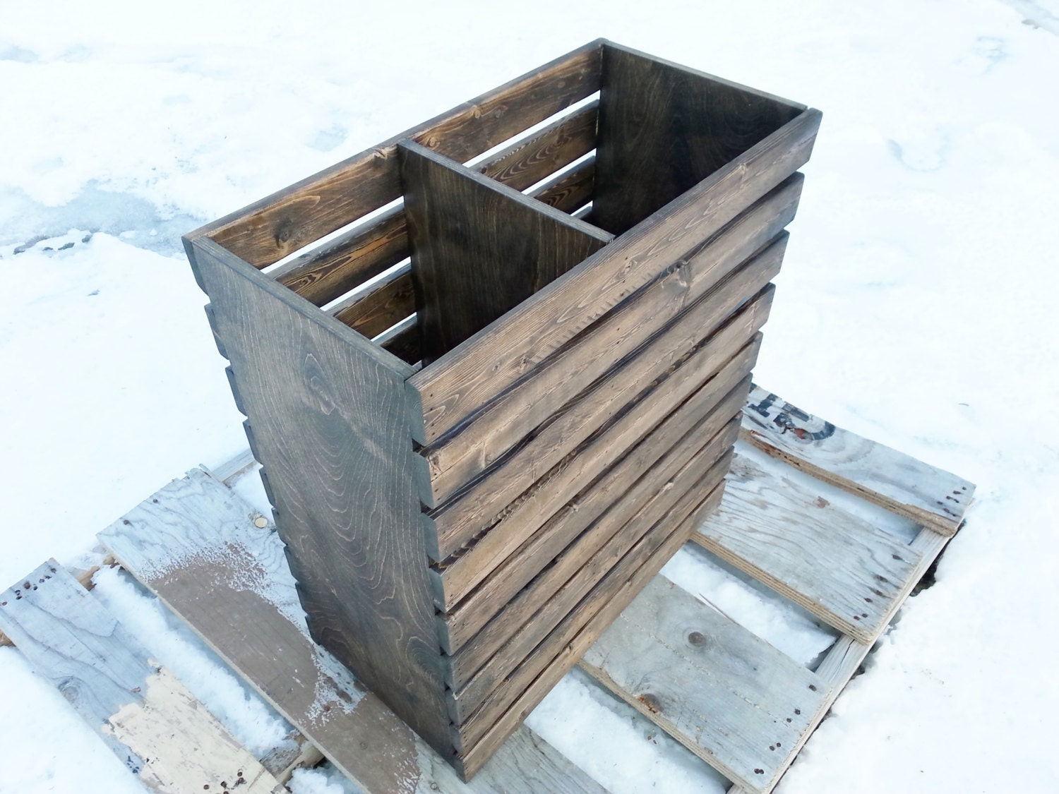 Laundry Basket Rustic Modern Crate Finished Or Unfinished
