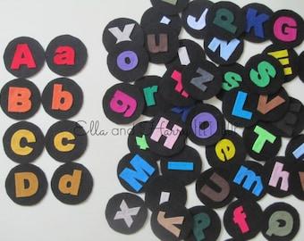 Felt Alphabet Matching Game - Uppercase and Lowercase