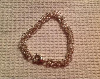 Vintage Sterling Silver Link Bracelet with Heart