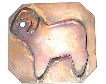 Vintage Copper Cookie Cutter Ram Mt Goat c1930
